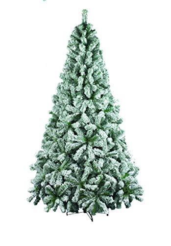 Dmora - Árbol de Navidad Maria, Altura 180 cm, Color Blanco, extragrueso, 644 Ramas, 100 x 100 x 180 cm