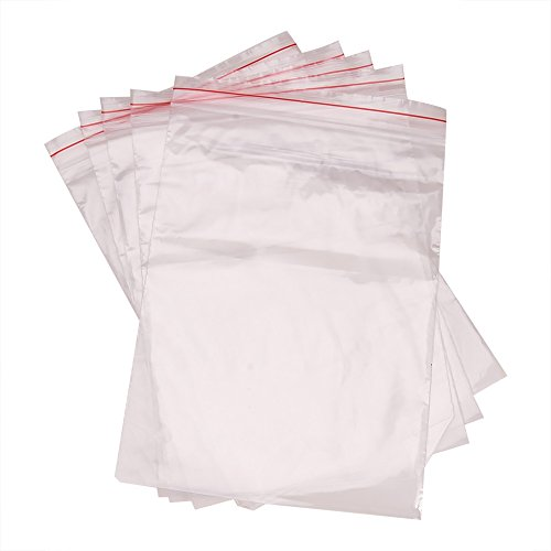 PandaHall 100pcs Bolsas Sobres plastica ziploc Transparentes por Embalaje, 17x25cm