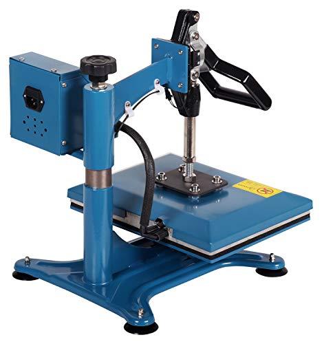 RICOO Transferpresse Textilpresse Power Zwerg-GS Textildruckpresse Schwenkbar Thermopresse Transferdruck Bügelpresse Textil T-Shirtpresse Sublimationspresse Flexfolie und Flockfolie Azur Blau - 6