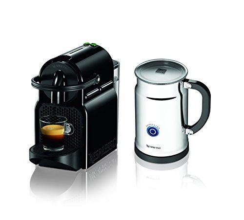 Nespresso Inissia Espresso Maker with Aeroccino Plus Milk Frother, Black (Discontinued Model)