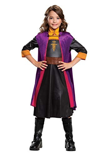 Disguise Frozen 2 Girls Anna Classic Costume Size 4/6