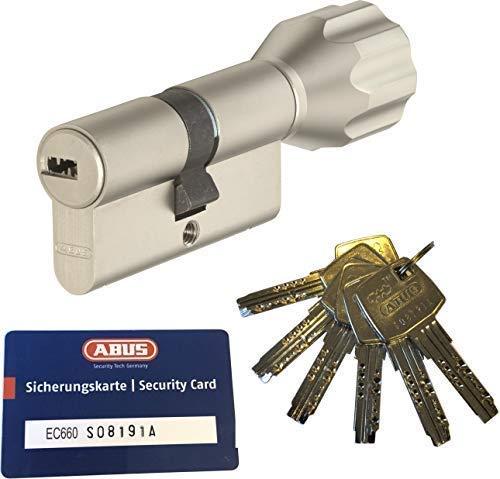 ABUS EC660 ECK660 Profil-Knaufzylinder Länge (a/b) Z30/K35mm (c=65mm) mit 6 Schlüssel, mit Sicherungskarte