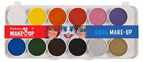 Kreul 37071 - Fantasy Aqua Make Up, Malkasten 12 Farben, Schminke
