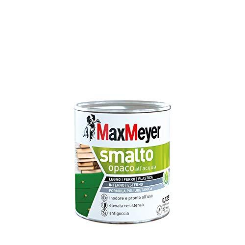 Maxmeyer 165369B130001 SMALTO ALL'ACQUA POLIURETANICO OPACO BIANCO 0,125 L, 0.125 l