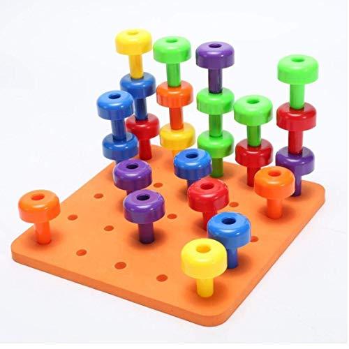 AMOYER 30PCS ÉGOUTTOIR Set thérapie Montessori Toy motricité Fine pour Enfants en Bas âge Pegboard