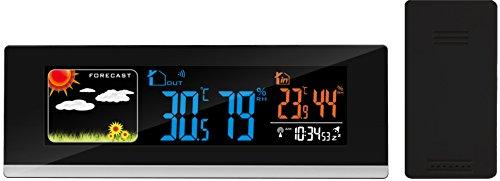 Think Gizmos Drahtlose Digitale Atom-Vorhersagestation mit Farbdisplay und Alarmen - TG647 Drahtlose Wetterstation mit enthaltenem Fernsender/Sensor und USB-Ladeanschluss