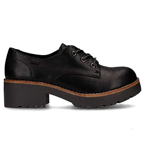 COOLWAY Cherby, Zapatos de Cordones Oxford para Mujer, Blanco (W/B 701), 37 EU