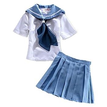 Cosplay Costume for Anime KILL la KILL mankanshoku mako Anime Sailor Suits L Blue full set
