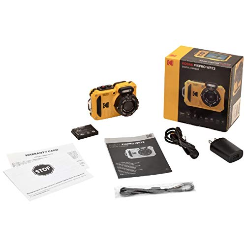 Kodak(コダック)コンパクトデジタルカメラ【防水+防塵+耐衝撃】スポーツカメラPIXPROイエローWPZ2[防水+防塵+耐衝撃]