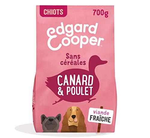 Edgard & Cooper Croquettes Chiot Chien Junior Sans Cereales Nourriture Naturelle 700 g Canard et Poulet Frais, Alimentation saine savoureuse et équilibrée, Protéines de qualité supérieure