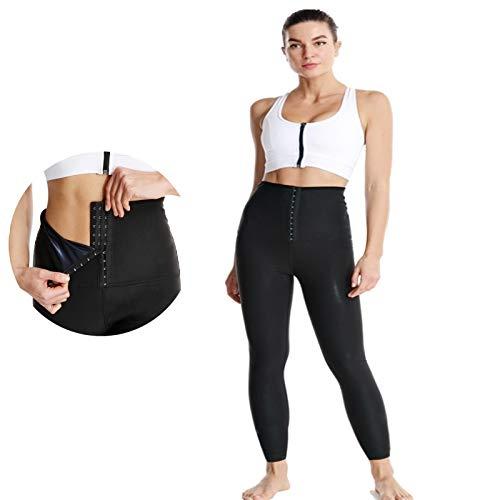 KUMADAI Mallas Deportivas Mujer Pantalón Sauna para Adelgazar Pantalones Leggins Anticeluliticos Fitness Termicas de Neopreno Push UP para Deporte,Negro,XXX Large
