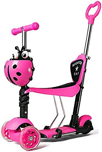 Kids Scooter - Vielseitiges Design Für 1-10 Jahre,RosaC