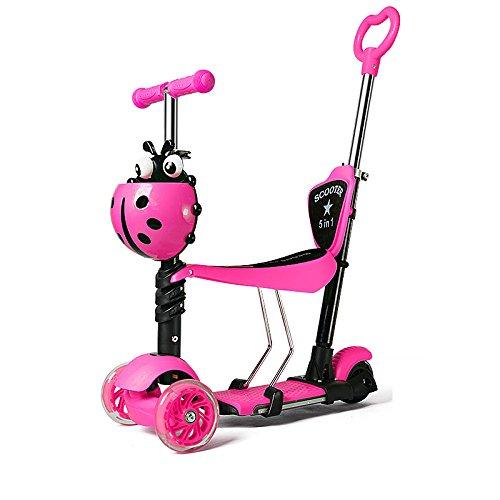Niños Scooter - Diseño Versátil Para 1-10 Años De Edad,PinkC