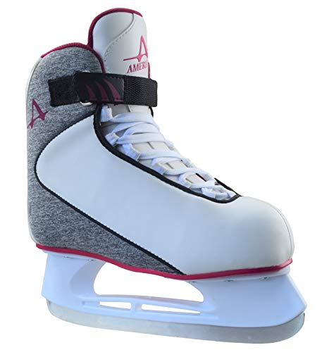 American Athletic Shoe Co.Women's American Soft Boot hockey Skate , Grey, 5