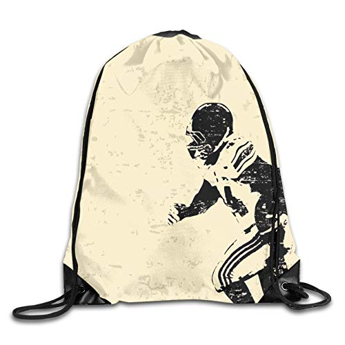 Rugby Player In Action Running Success In Arena Playground Sport Best Team Picture Drawstring Backpack Rucksack Shoulder Bags Gym Bag Sport Bag