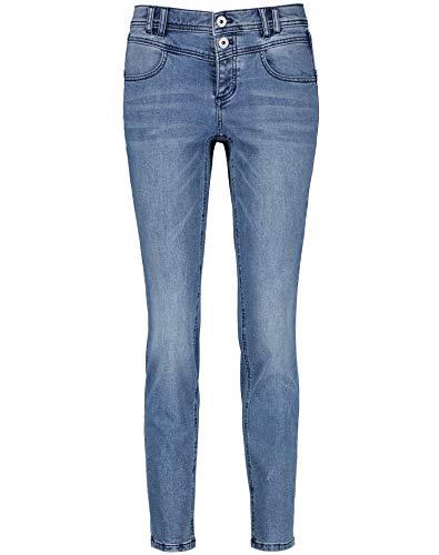 Taifun Damen Jeans Slim Boyfriend TS Organic Cotton lässige, schlanke Passform Blue Denim 46