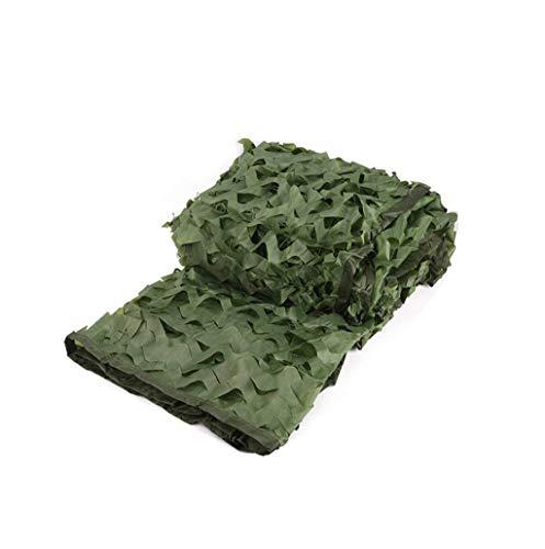 KXBYMX Filet de camouflage jungle filet de camouflage de défense aérienne Écran solaire plante de fleur de jardin (Couleur : Green, taille : 10 * 10m)