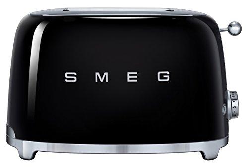 SMEG TSF01BLEU | Broodrooster 2 plakjes 50's Style | Kleur : zwart