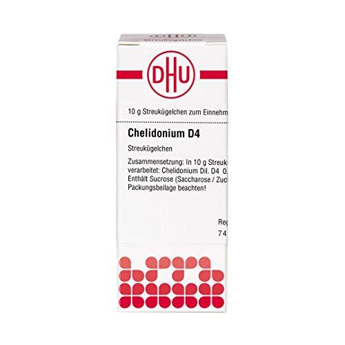 DHU Chelidonium D4 Streukügelchen, 10 g Globuli