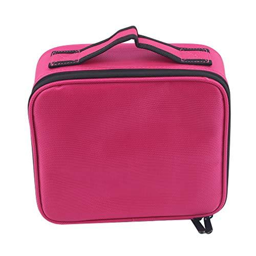Hyhy cosmétique Sac de Rangement Portable poignée supérieure Trousse de Maquillage fourre-Tout Trousse de Toilette,Rose Rouge
