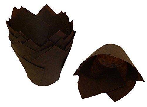 Scrumptious Sprinkles Papierförmchen in Tulpenform, für Muffins, Schokoladenbraun, 200 Stück