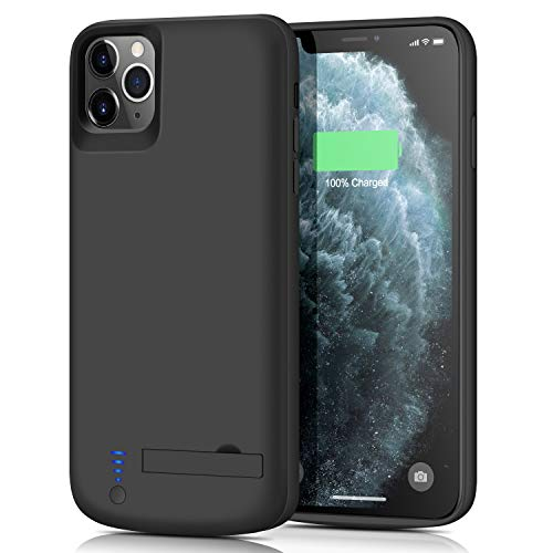QLSMEB Battery Case for iPhone 11 Pro Max, Upgraded [7800mAh] Charging Case Rechargeable Battery for iPhone 11 Pro Max Backup Extended Battery Charger Case - Black (6.5 inch)