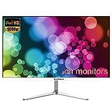 YAOJP Monitor Gaming 24 Pollici 75 Hz HD 1920 × 1080 Monitor da Gioco con Interfaccia HDMI/VGA Filtra La Luce Blu Senza Sfarfallio MVA Schermo Display - 2MS,Bianca