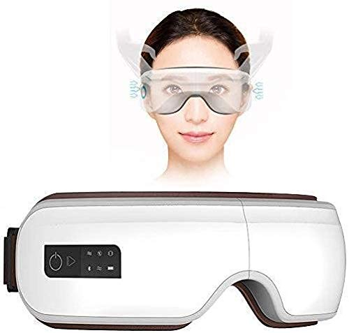 CCHAYE Drahtloses Augenmassagegerät Migräne-Maske USB-Ladeairbag Vibration Heat Pack Bluetooth-Musik Augenermüdung lindern Schlaf verbessern Improve