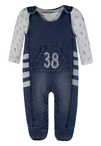 Kanz Jungen Strampler + T-Shirt 1/1 Arm 1832471, Blau (Blue Denim 0013), 50