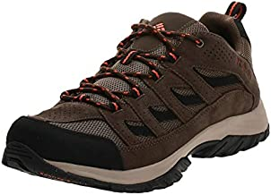 Columbia Men's Crestwood Hiking Shoe Breathable, High-Traction Grip, Camo Brown, Heatwave, 9.5