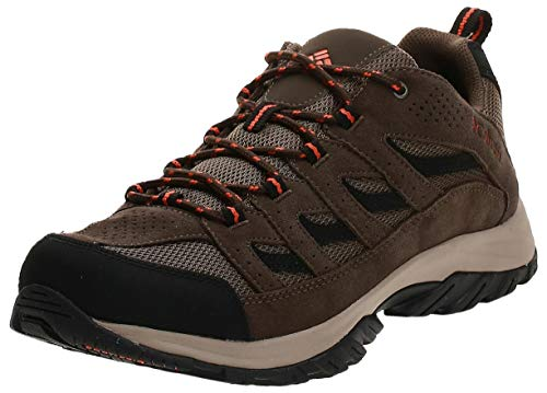 Columbia Men's Crestwood Hiking Shoe Breathable, High-Traction Grip, Camo Brown, Heatwave, 11.5