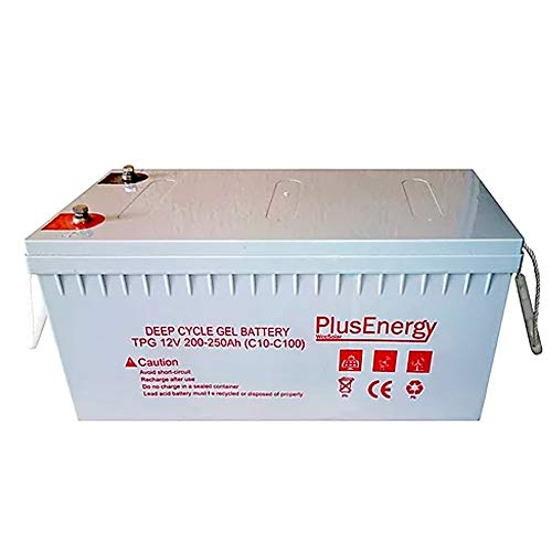 PlusEnergy Batteria AGM Gel 250AH 150AH 12V Profonda del Ciclo - Gel 250AH