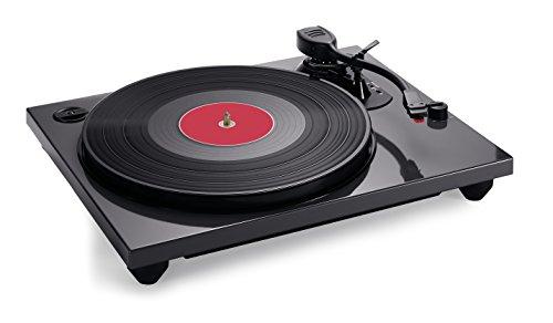 Bigben Interactive TD114N Schwarz - Plattenspieler (Schwarz, 33,45,78 RPM, Schallplatte)