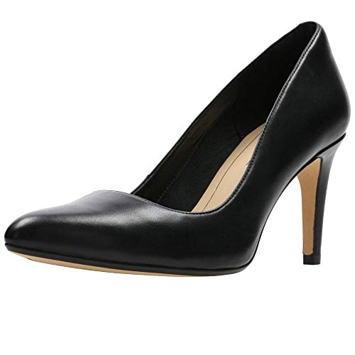 Clarks Damen Laina Rae Pumps, Schwarz (Black Leather), 39.5 EU