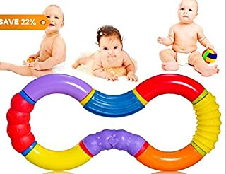 WTSHOP Hand Ringing for Baby,Twisty Figure 8 Teether
