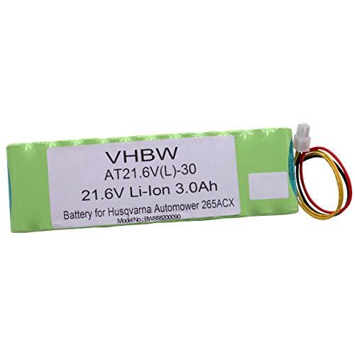 vhbw Li-Ion batería 3000mAh (21.6V) para cortacésped Robot