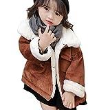 [ミャオッティ] 女の子 アウター 冬服 ジャンバー 裏起毛 ダウン フリース アウトドア ジップ フードなし 厚手 ジャンパー ボアジャケット ウィンター ウインター 子供服 こども用 女児 kids キッズ 子供 暖かい 女子ジュニアウインドブレーカー ジャンパースカート モコモコ ブルゾン 中綿ジャケット SF406-R30-BR120(ブラウン,120㎝)