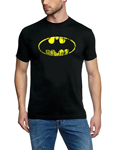 Coole-Fun-T-Shirts T-Shirt Batman Vintage Logo, schwarz, XL, FT75