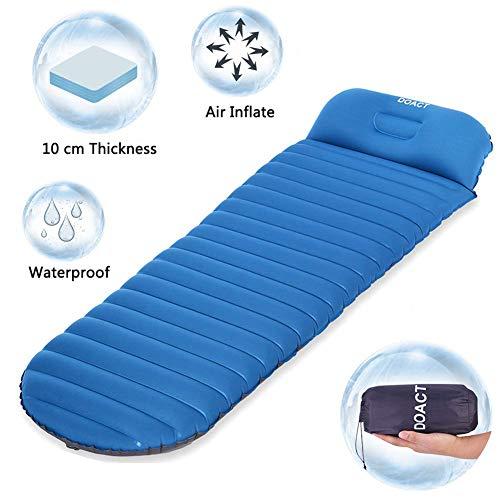 Doact Isomatte Selbstaufblasend Isomatte Aufblasbar Ultraleicht Camping Leichte Schlafsack-Luftauflage für Reisen Im Freien Backpacking Wandern
