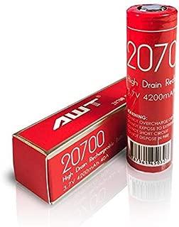 Original AWT IMR 4200mah 40A 3.7v Rechargeable High Drain Li-ion Flat Top Batteries (2 Pcs)