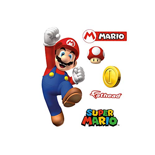 FATHEAD Mario-Large Officially Licensed Nintendo Removable Wall Decal