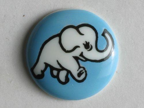 Dill® Kinderknopf, Elefant, Größe.: 15mm - Farbe: blau