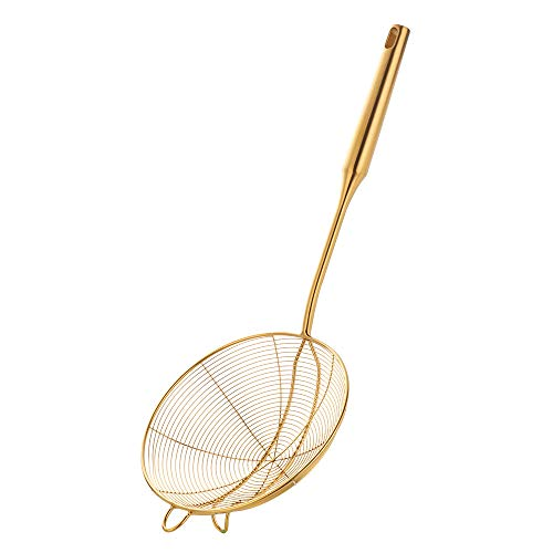 Grande Colador de cocina Acero inoxidable Cuchara Skimmer de Alambre para Fritura Comida Pastas Espaguetis Tallarines Hot Pot 18 pulgadas