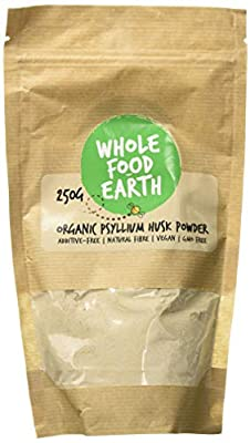 Wholefood Earth: Organic Psyllium Husk Powder 250g | GMO Free | Vegan | Raw | Additive-Free | Natural Fibre
