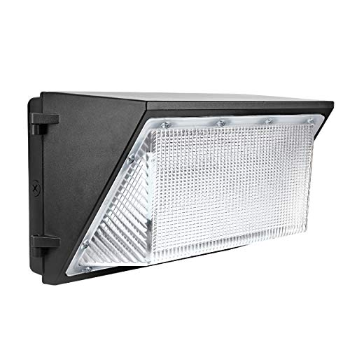 Hyperikon 150W LED Wall Pack, Outdoor Commercial Industrial Security Lighting, UL, Crystal White, DLC,