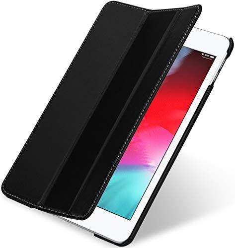 StilGut Couverture entwickelt für iPad Mini 5 Lederhülle - iPad Mini 5 (2019) Hülle aus Leder mit Smart Cover + Standfunktion, Hülle - Schwarz Nappa