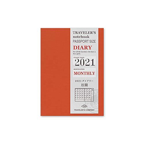 Traveler's Notebook 2021 Monthly Diary Passport Size - Refill agenda mensile