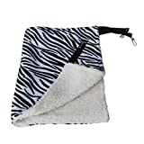 Warm Hanging Cat Bed Mat Soft Cat Hammock Winter Hammock Pet Kitten Cage Bed Cover Cushion Air Bed Pet Products(Black & White)-BCVBFGCXVB