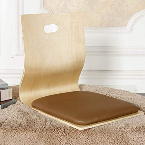 WJstool Holz Tatami Zaisu, Boden Stuhl Fauler Sofa Spiel Meditation Bodensitz Mit Rückenlehne Legless Stuhl,A