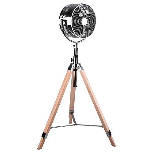 Stand Ventilator Küchen Kühler Anti Mücken 3-Stufen Stativ Lüfter Holz höhe verstellbar Reality R036-06